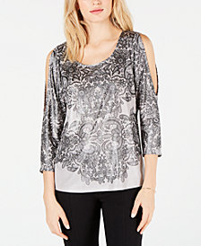 I.N.C. Liquid Cold-Shoulder Top, Created for Macy's