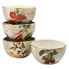 Certified International Piazette 4-Pc. Ice Cream Bowl