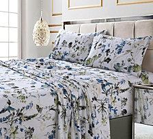 Amalfi Printed 300 TC Cotton Sateen Extra Deep Pocket Full Sheet Set