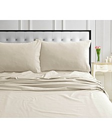 170-GSM Ultra-Soft Cotton Flannel Solid Extra Deep Pocket King Sheet Set