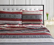 Alpine Knit 170-GSM Cotton Flannel Standard Pillow Pair