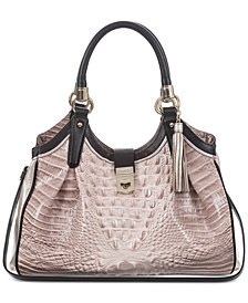 Brahmin Elisa Kendall Embossed Leather Hobo