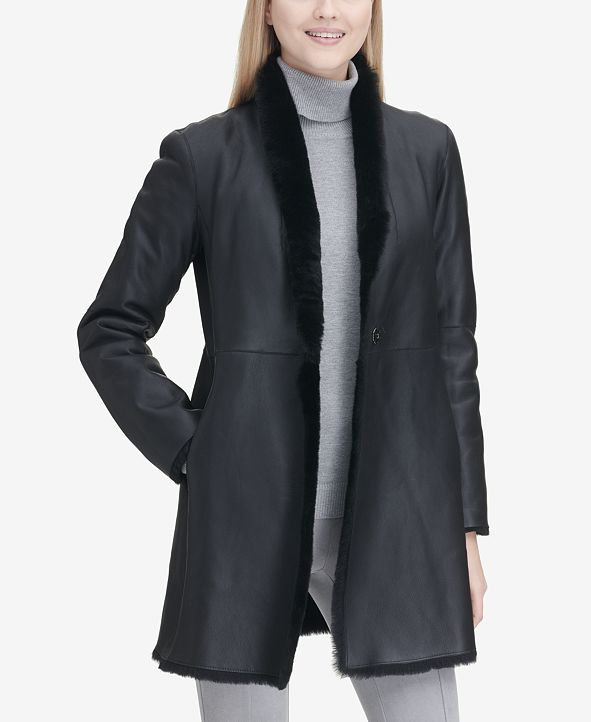 Calvin Klein Reversible Shearling Coat