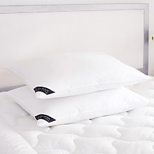 Royalty 233 Thread Count Cotton Allergen Barrier Down Alternative Pillow 2 Pack - King - Medium