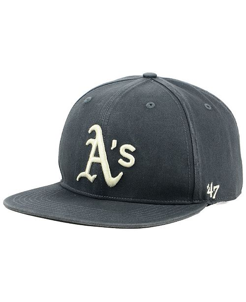 sale retailer a7ce8 94a3e ...  47 Brand Oakland Athletics Garment Washed Navy Snapback Cap    ...