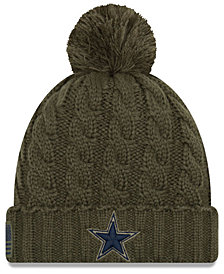 New Era Women's Dallas Cowboys Salute To Service Pom Knit Hat