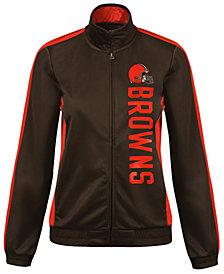 G-III Sports Women's Cleveland Browns Backfield Track Jacket