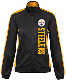 G-III Sports Women's Pittsburgh Steelers Backfield Track Jacket