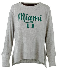 Pressbox Women's Miami Hurricanes Cuddle Knit Sweatshirt
