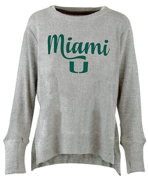 Pressbox Women's Miami Hurricanes Cuddle Knit Sweatshirt