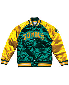 Mitchell & Ness Men's Seattle SuperSonics Tough Season Satin Jacket