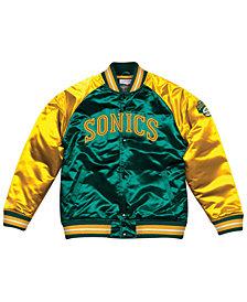 Mitchell & Ness Men's Seattle SuperSonics Tough Season Satin Jacket