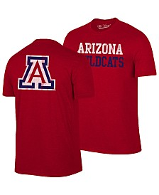 Retro Brand Men's Arizona Wildcats Team Stacked Dual Blend T-Shirt