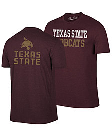 Retro Brand Men's Texas State Bobcats Team Stacked Dual Blend T-Shirt
