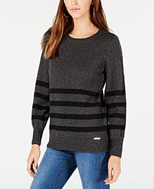 MICHAEL Michael Kors Striped Crew-Neck Sweater