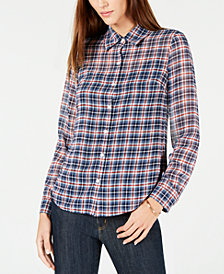 MICHAEL Michael Kors Plaid Button-Front Shirt