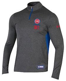 Under Armour Men's Detroit Pistons Combine Authentic Season Quarter-Zip Pullover