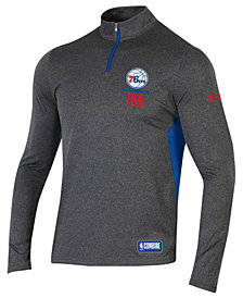 Under Armour Men's Philadelphia 76ers Combine Authentic Season Quarter-Zip Pullover
