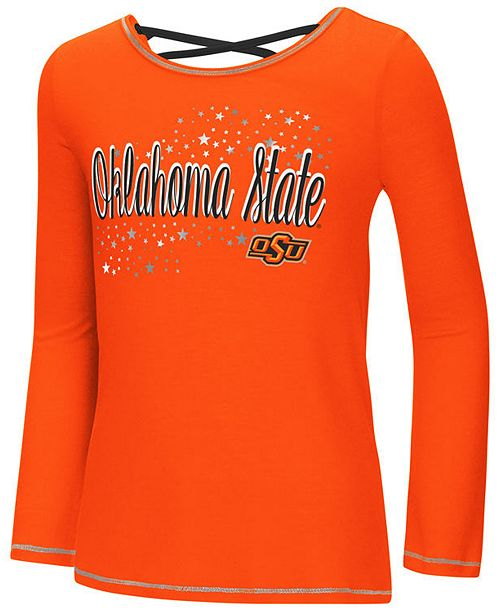 Colosseum Oklahoma State Cowboys Crosscross Long Sleeve T-Shirt, Girls (4-16)