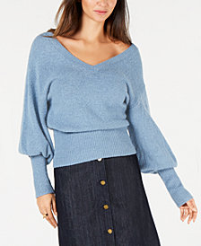 MICHAEL Michael Kors Bishop-Sleeve Banded-Hem Sweater, In Regular & Petite Sizes