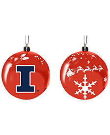 "Memory Company Illinois Fighting Illini 3"" Sled Glass Ball"