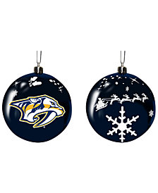 "Memory Company Nashville Predators 3"" Sled Glass Ball"