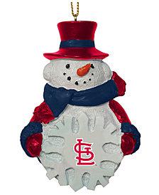 Memory Company St. Louis Cardinals Snowflake Snowman Ornament