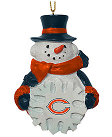 Memory Company Chicago Bears Snowflake Snowman Ornament