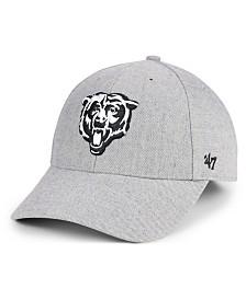 '47 Brand Chicago Bears Heathered Black White MVP Adjustable Cap