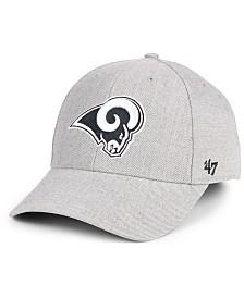 '47 Brand Los Angeles Rams Heathered Black White MVP Adjustable Cap