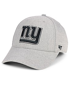 New York Giants Heathered Black White MVP Adjustable Cap