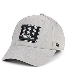 New York Giants Heathered Black White MVP Adjustable Cap