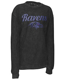 Pressbox Women's Baltimore Ravens Comfy Cord Top