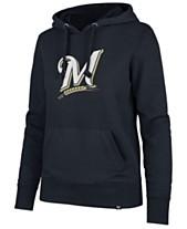 75ee2110 '47 Brand Women's Milwaukee Brewers Imprint Headline Hoodie · '