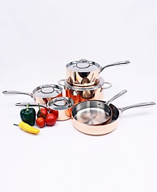 Berghoff Vintage Collection 10 Piece Polished Copper Cookware Set