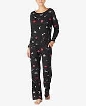 30d261750a Betsey Johnson Velvet-Trimmed Printed Pajama Set