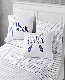 Dreams 6 Piece Queen Size Microfiber Sheet Set With Novelty Pillowcases