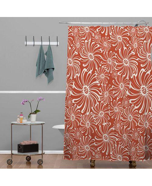 Deny Designs Heather Dutton Bursting Bloom Spice Shower Curtain