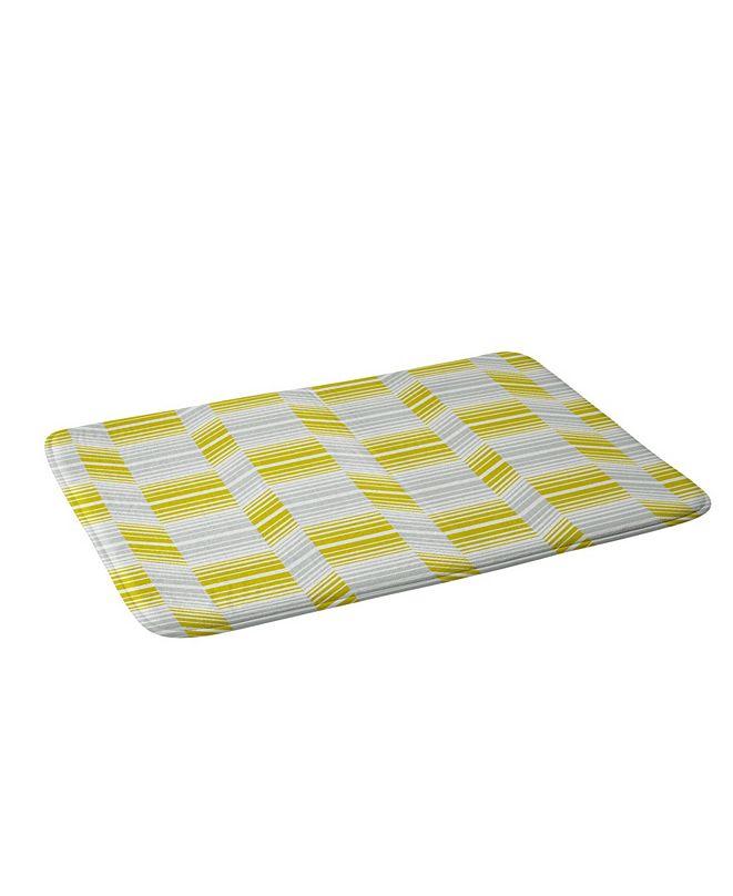 Deny Designs Heather Dutton Delineate Citron Bath Mat