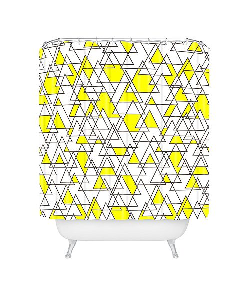Deny Designs Holli Zollinger Geo Triangles Shower Curtain