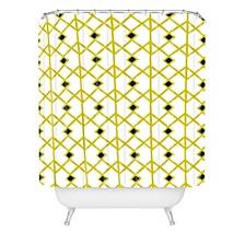Heather Dutton Annika Diamond Citron Shower Curtain