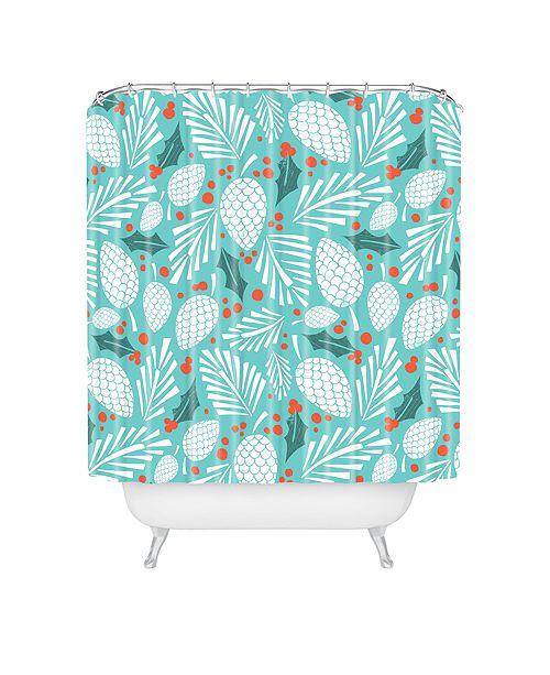 Deny Designs Heather Dutton Winter Woodlands Sky Shower Curtain