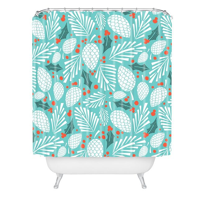 Deny Designs Heather Dutton Winter Woodlands Sky Shower Curtain