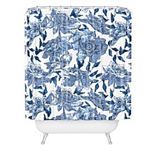 Holli Zollinger Summertime Indigo Shower Curtain