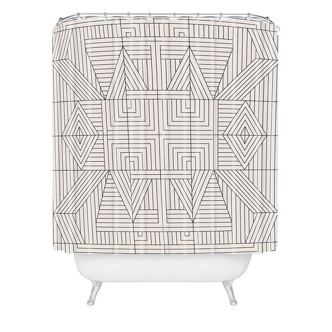 Deny Designs Holli Zollinger Line Mandala Shower Curtain