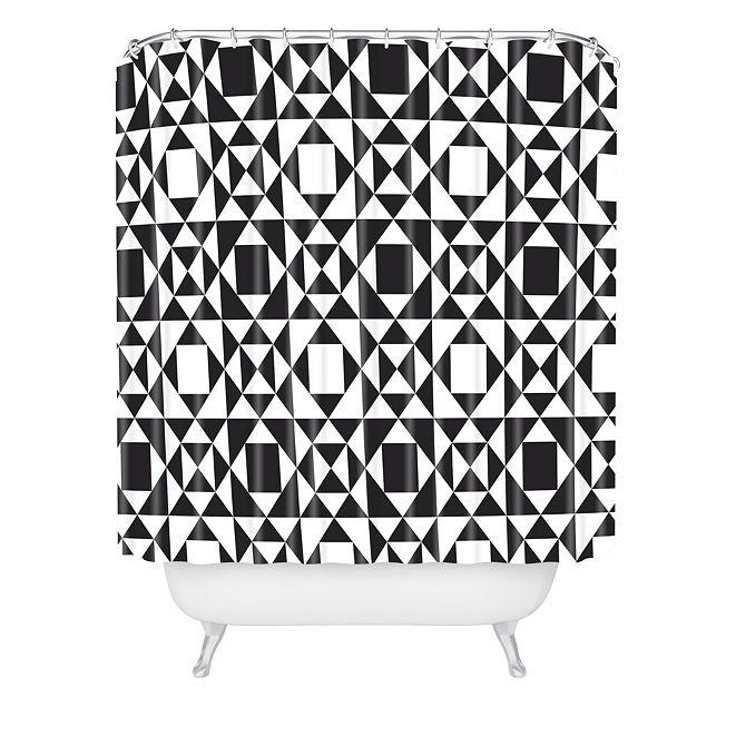 Deny Designs Heather Dutton Rhythm Black Shower Curtain