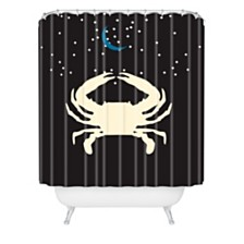 Deny Designs Holli Zollinger Zodiac Cancer Shower Curtain