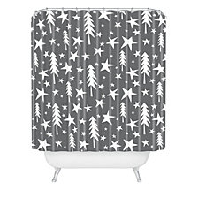 Deny Designs Heather Dutton Wish Upon A Star Grey Shower Curtain
