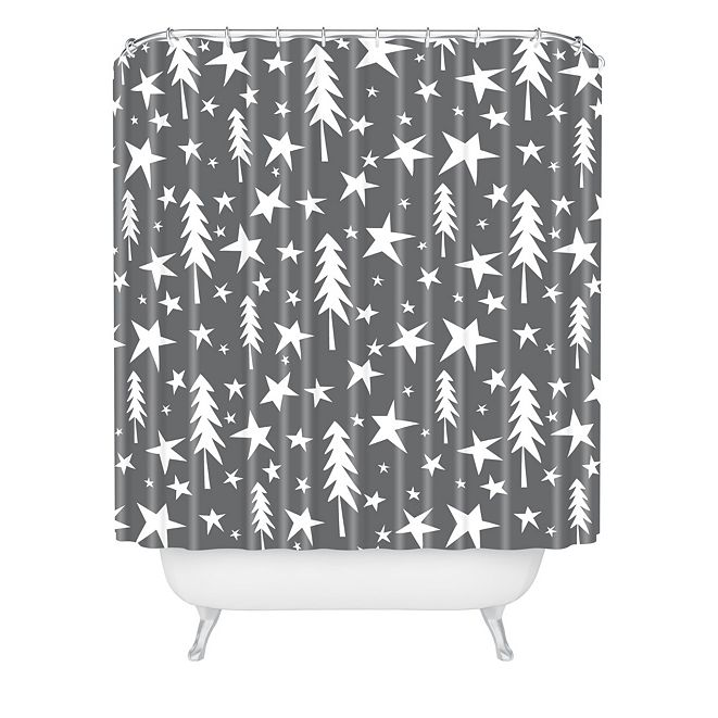 Deny Designs Heather Dutton Wish Upon A Star Grey Shower Curtain
