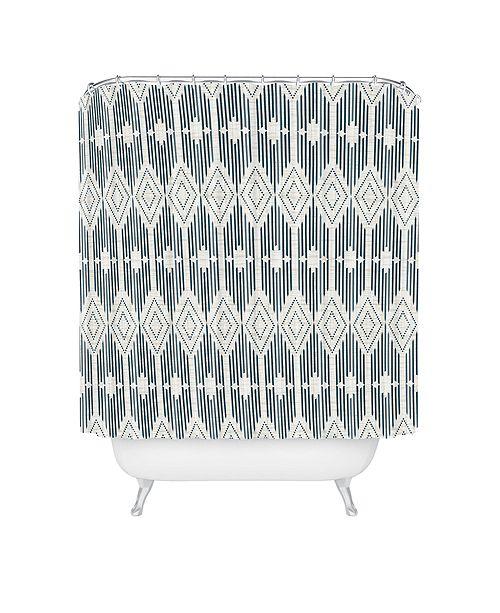 Deny Designs Heather Dutton West End Midnight Linen Shower Curtain